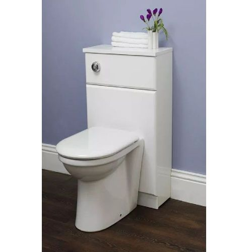 Eastbrook New Diamante Floor Standing Wc Unit - 500mm Wide - High Gloss White